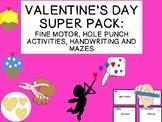 VALENTINE'S DAY fine motor, jokes, mazes, hole punch activities & more