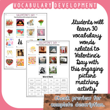 Valentine's Day ESL/ELL Unit Reading Passages, Speaking and Writing Activities