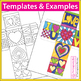 Pop Art Hearts Doodle Gift Box Craftivity for Mother's Day & Valentine's Day