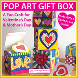 Valentines Day Activity | Pop Art Gift Box and Card
