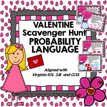 VALENTINE Scavenger Hunt Probability Language VIRGINIA SOL 3.18