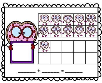 VALENTINE Smart Cookie Math Mats - Numbers 11-20 - Three Versions