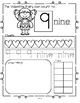 VALENTINE'S DAY Number Practice Printables - Recognition Tracing Counting 1-20