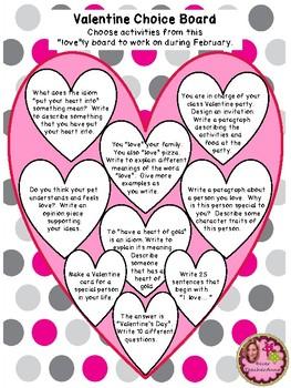 VALENTINE WRITING - Grades 4, 5, and 6