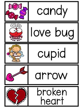 VALENTINE Word Cards {Capital & Lowercase}