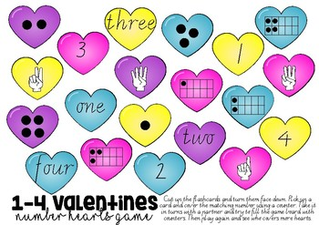 VALENTINES 1-4 NUMBER GAME