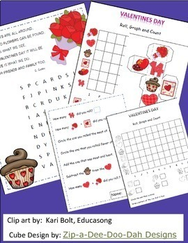 Valentine's Day Math, Graphing Activities, February Activities