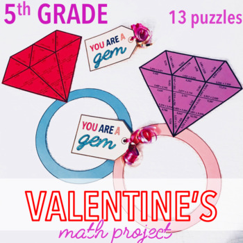 VALENTINES DAY ACTIVITIES - FIFTH GRADE MATH RING