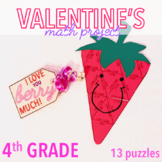 VALENTINES DAY ACTIVITIES - FOURTH GRADE MATH STRAWBERRY