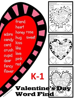 VALENTINE'S DAY ACTIVITIES * WORD SEARCH