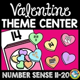 VALENTINES DAY ACTIVITY MATH CENTER (TEEN NUMBERS KINDERGA
