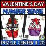 VALENTINES DAY ACTIVITY MATH KINDERGARTEN (TEEN NUMBER SEN