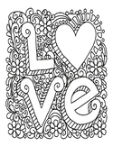 VALENTINES DAY COLORING, BUNDLE 21 PAGES, VALENTINES DAY A