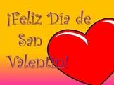 VALENTINE'S DAY:  Free Valentine's Day Slides in Spanish