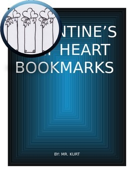 VALENTINE'S DAY HEART BOOKMARKS