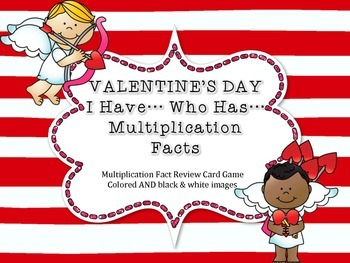 VALENTINE'S DAY Multiplication Fact Game