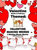 VALENTINE'S DAY: MAKING WORDS SETS