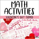 Valentine's Day Themed Math Activities