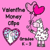 VALENTINES DAY MATH:  Counting Coins Clip Cards & Worksheets