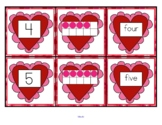 VALENTINE'S DAY Number Matching Cards 0 -10 - Numeral, 10-Frames, Number Word