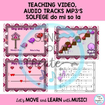 """Valentine's Day Music Lesson: """"Valentine's Day"""" Kodaly, Orff,  Video Mp3 Tracks"""