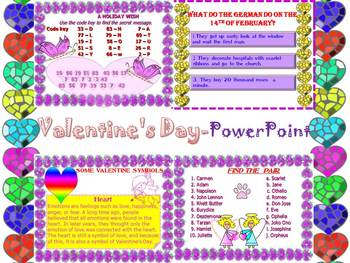 Valentine's Day - Activities - Interactive PowerPoint Lesson