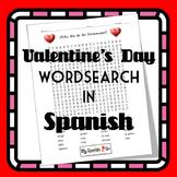 VALENTINE'S DAY:  Valentine's Day Wordsearch in Spanish