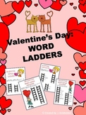 VALENTINE'S DAY: WORD LADDERS with Answer Key