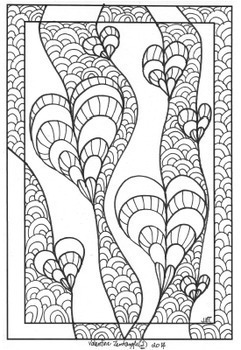 Zentangle Coloring Pages – Valentine's Day