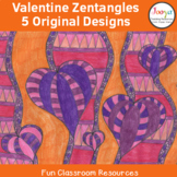 Valentine's Day Zentangle Coloring In