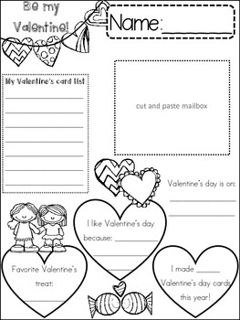 VALENTINES DAY {{quick topics}} one interactive worksheet