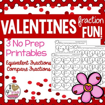 VALENTINES FRACTION  PRINTABLES
