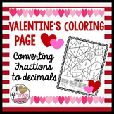 VALENTINES FRACTION Coloring Page