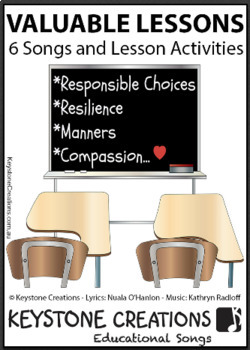 'VALUABLE LESSONS' ~ 6 Curriculum Songs & Lesson Materials