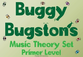 VALUE PACK: Buggy Bugston Primer Level Theory Game, Worksheets and Flashcards