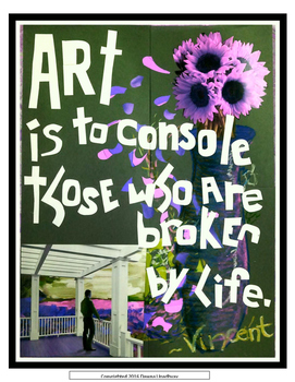 VAN GOGH QUOTE ART POSTER