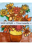 """VAN GOGH- """"Tournesols"""" Coloriages fête des mères"""