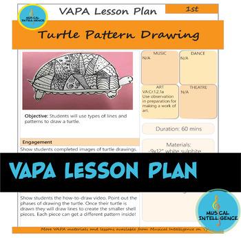 VAPA Lesson Plan 1st Grade [Day 3] - Turtle Pattern Drawing
