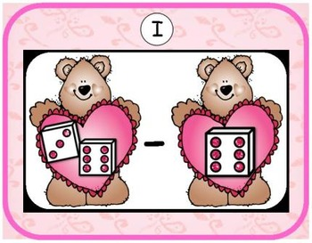 Valentine Addition & Subtraction Bundle {Subitizing with Dice}