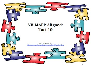 VB-MAPP Aligned: Tact Milestone 10