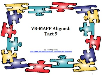 VB-MAPP Aligned: Tact Milestone 9
