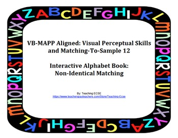 VB-MAPP Aligned: Visual Perceptual Skills Milestone 12