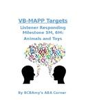 VB-MAPP Listener Responding 5M/6M - Animals and Toys