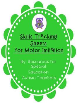 Mixed VB Box - Skills Tracking Sheets - Motor Imitation - Autism / ABA