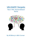 VB-MAPP Tact 7M (Generalized Tacting)
