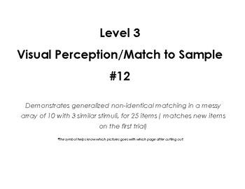 VB-MAPP (VBMAPP) Level 3 Visual Perceptual