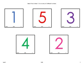 VB-MAPP (VBMAPP) Level 3 Math