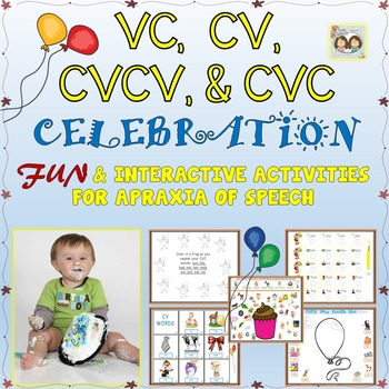 Speech Therapy: INTERACTIVE VC, CV, CVCV, & CVC ACTIVITIES