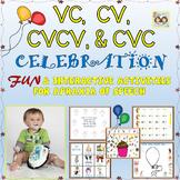 Speech Therapy: INTERACTIVE VC, CV, CVCV, & CVC ACTIVITIES