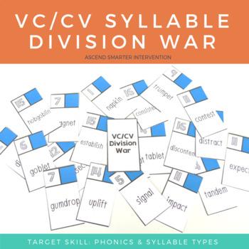 VC/CV Syllable Division War - Orton Gillingham